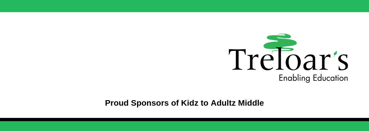 Treloar Proud Sponsors of Kidz to Adultz Middle
