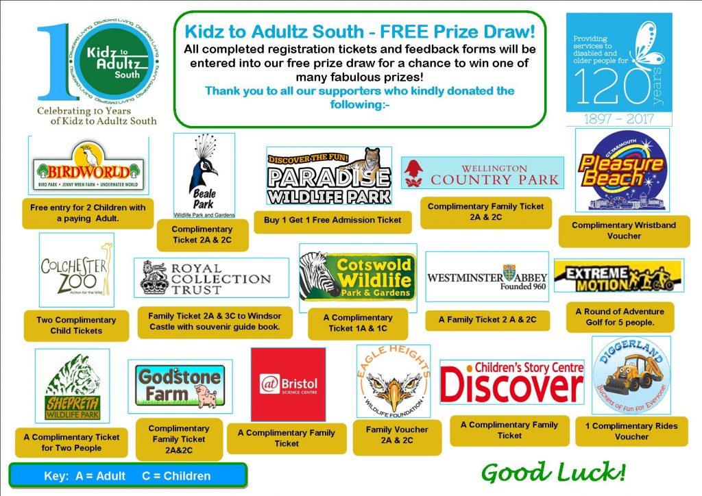 Kidz to Adultz South Prize Poster 2017