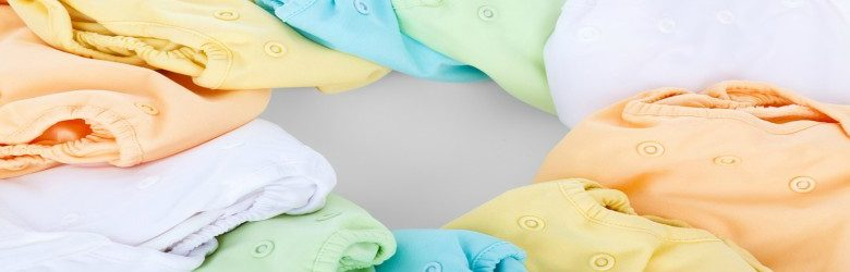 colourful cotton nappies in a circle