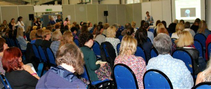 seminar at a kidz exhibition