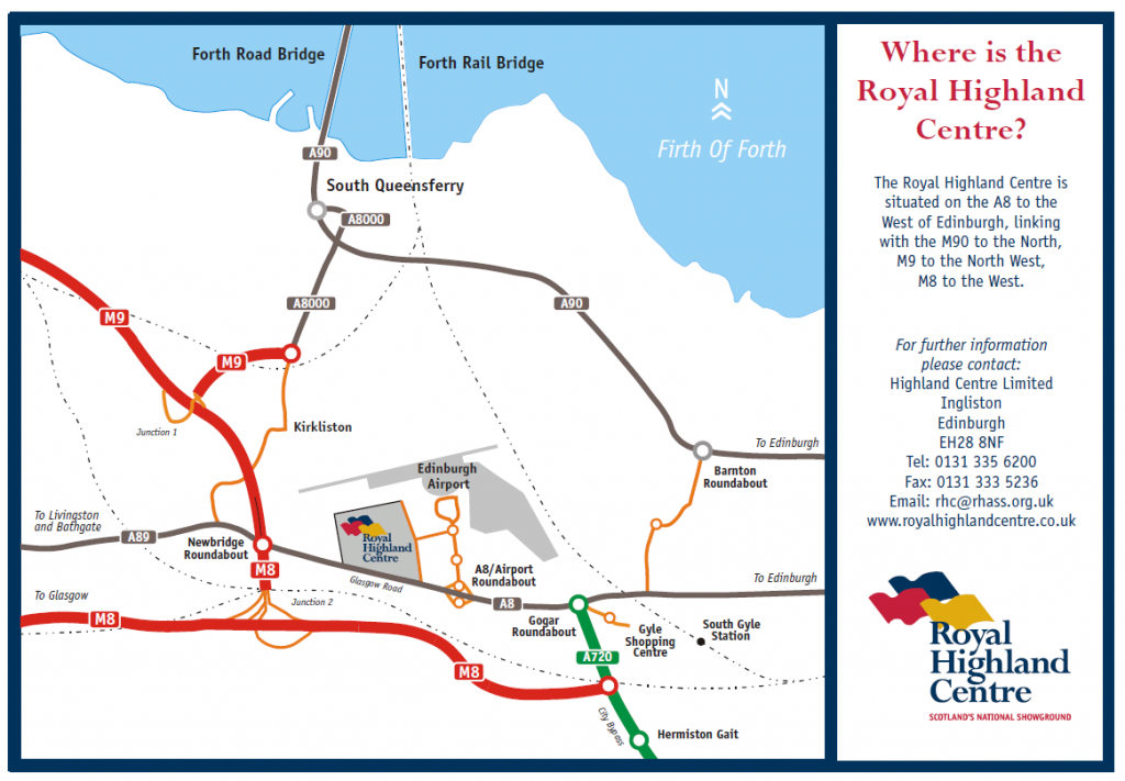 Royal Highland Centre Scotland map