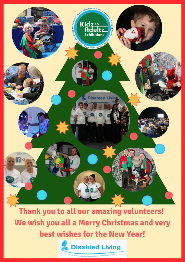 Volunteers Christmas tree