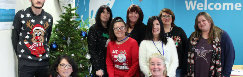 disabled living staff at christmas