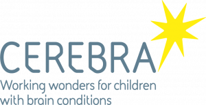 cerebra logo grey and yellow