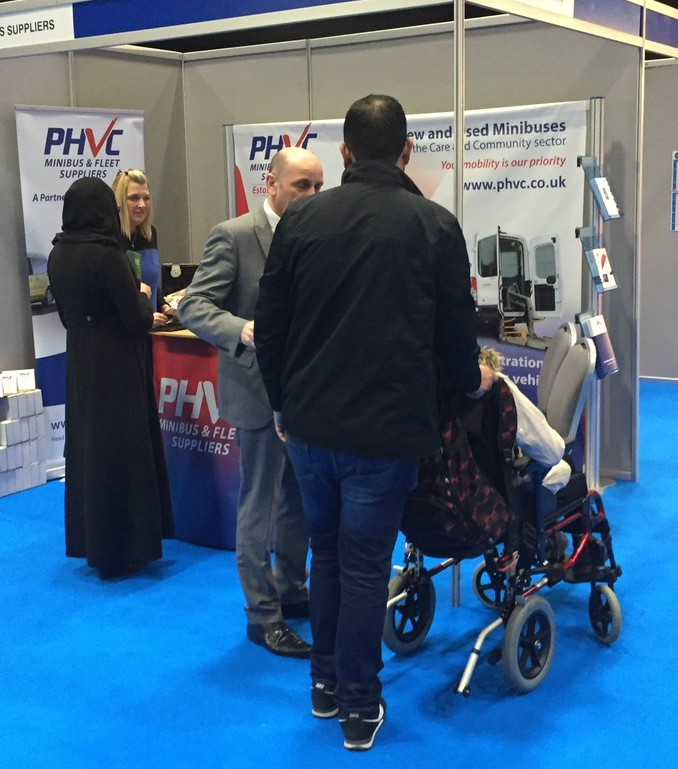 PHVC Stand - people visiting