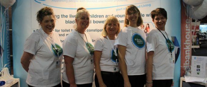 bladder and bowel uk team photoa at kidz to adultz north