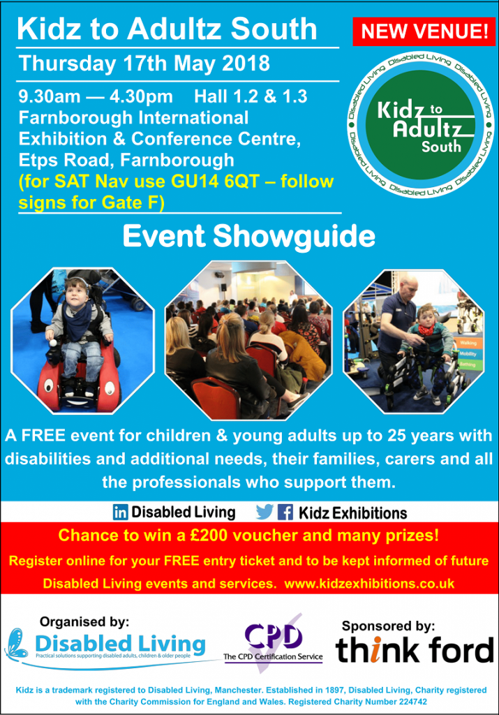kidz to adultz south showguide 2018 front cover