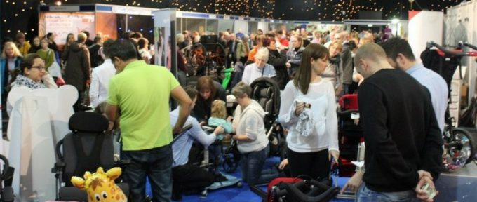 busy aisles with people at kidz exhibition