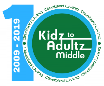 Kidz to Adultz Middle 10 years logo