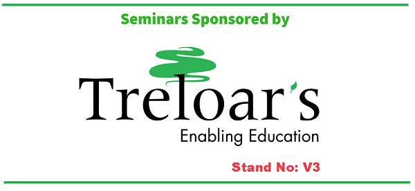 Banner with Treloars logo as Kidz to Adultz Middle 2019 Seminar Sponsor