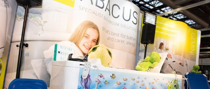abacus stand at exhibition with Trevor the turtle