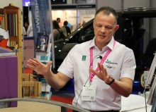 ot shaun masters talking to exhibitors