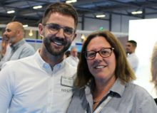 jo and colleague at etac stand