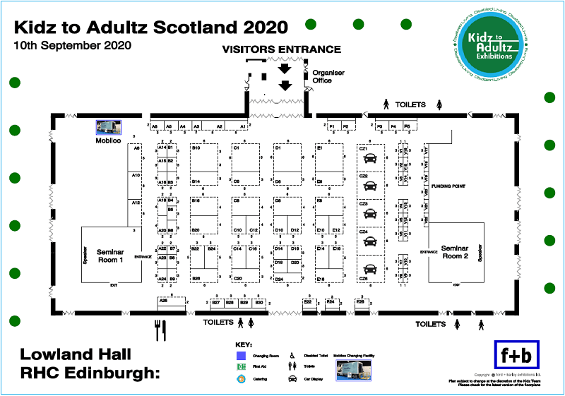 Kidz to Adultz Scotland 2020 Floorplan