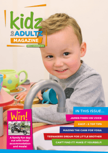 magazine cover with young boy smiling