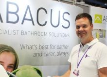 adam from abacus stood on his exhibition stand