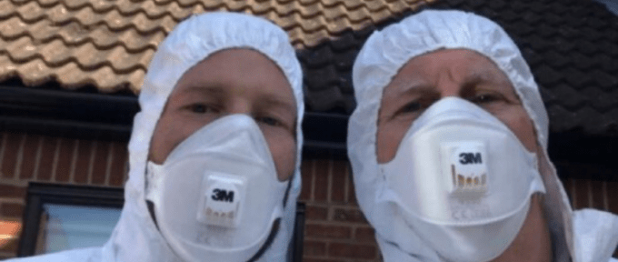 two theraposture staff wearing face masks