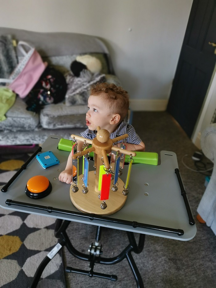 ronnie using equipment at home