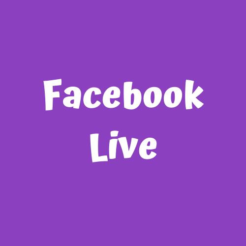 kidz facebook live button