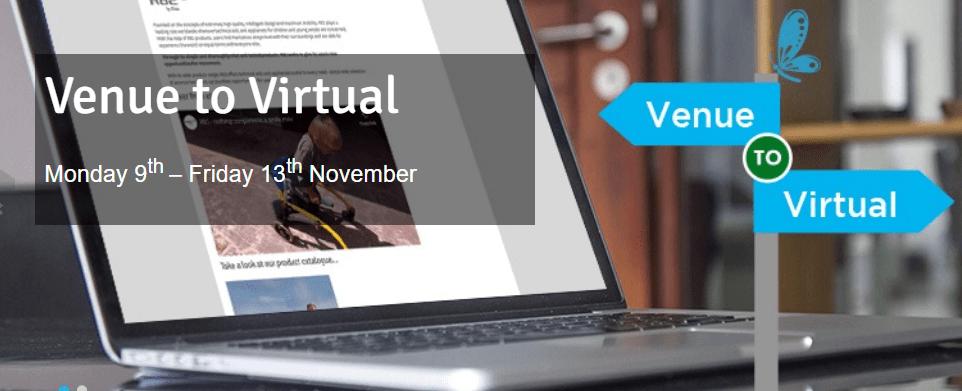screenshot of venue to virtual homepage