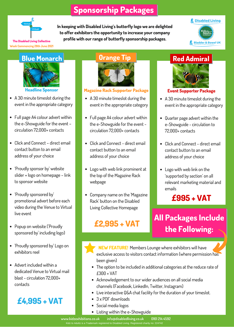 Venue to Virtual Sponsorship Package