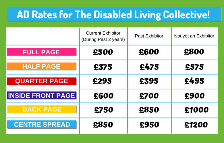 advert rates for the disabled living collective